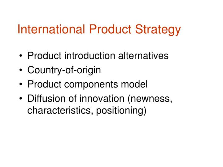PPT - International Product Strategy PowerPoint Presentation - ID