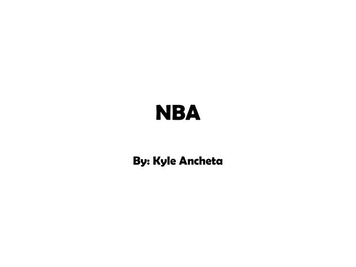 PPT - NBA PowerPoint Presentation - ID5645582