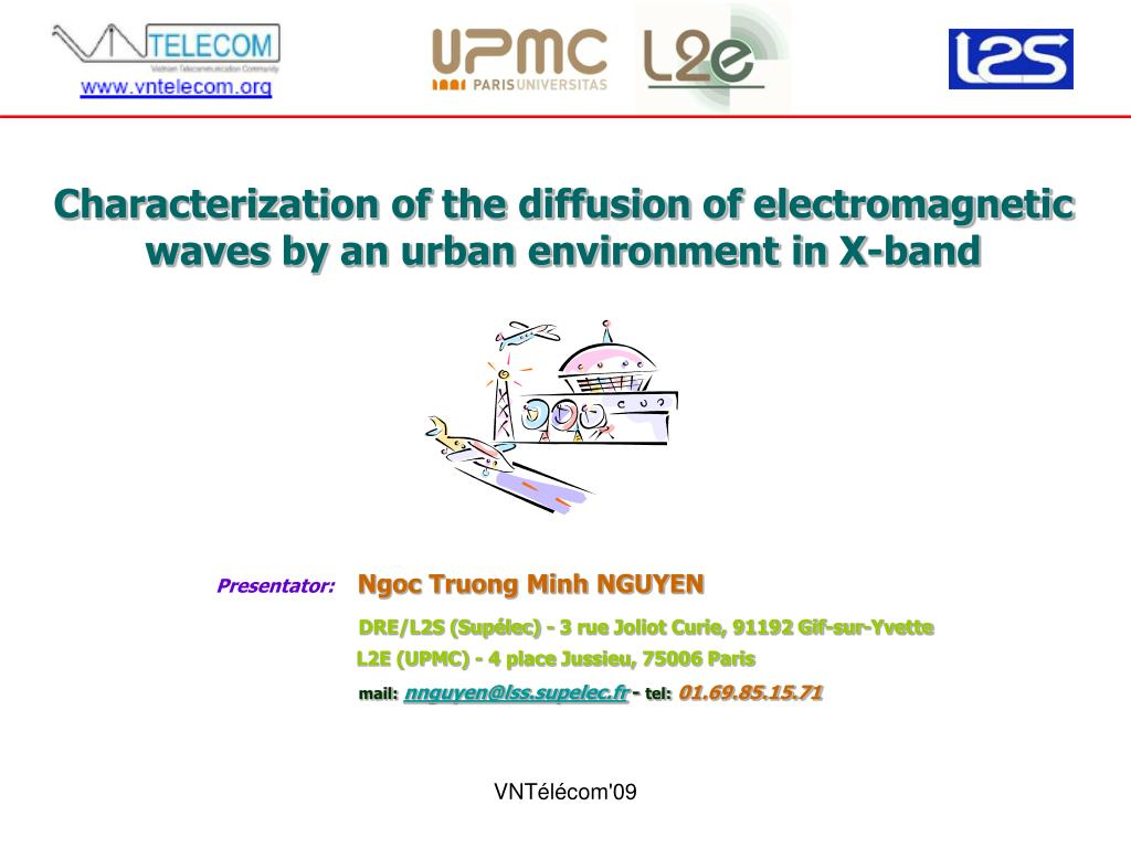 Minh Ngoc X Ppt Characterization Of The Diffusion Of Electromagnetic Waves