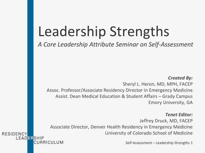 PPT - Leadership Strengths A Core Leadership Attribute Seminar on - leadership self assessment