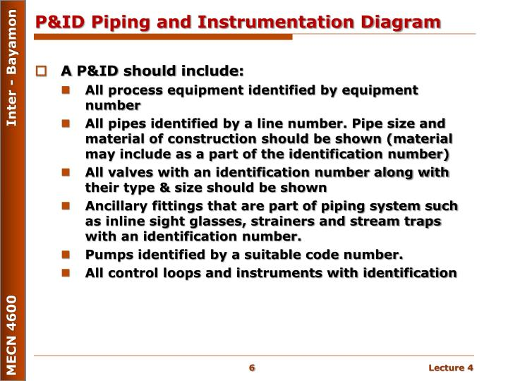 Piping And Instrumentation Diagram Lecture Wiring Diagram