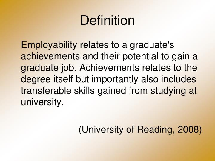 PPT - Recognising and Developing Employability Skills in an