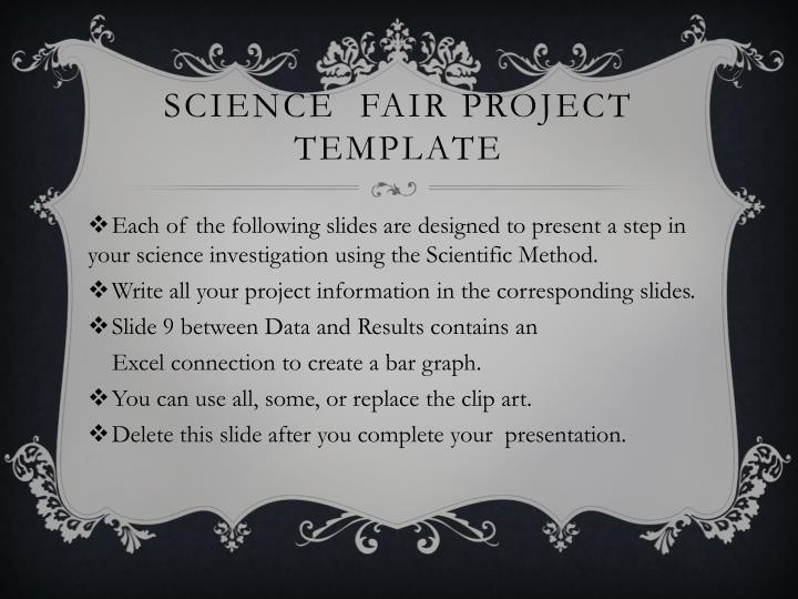 PPT - Science Fair Project Template PowerPoint Presentation - ID5757968