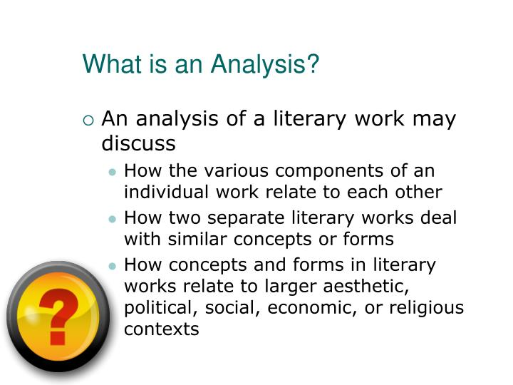 PPT - Literary Analysis PowerPoint Presentation - ID5762313 - what is an analysis
