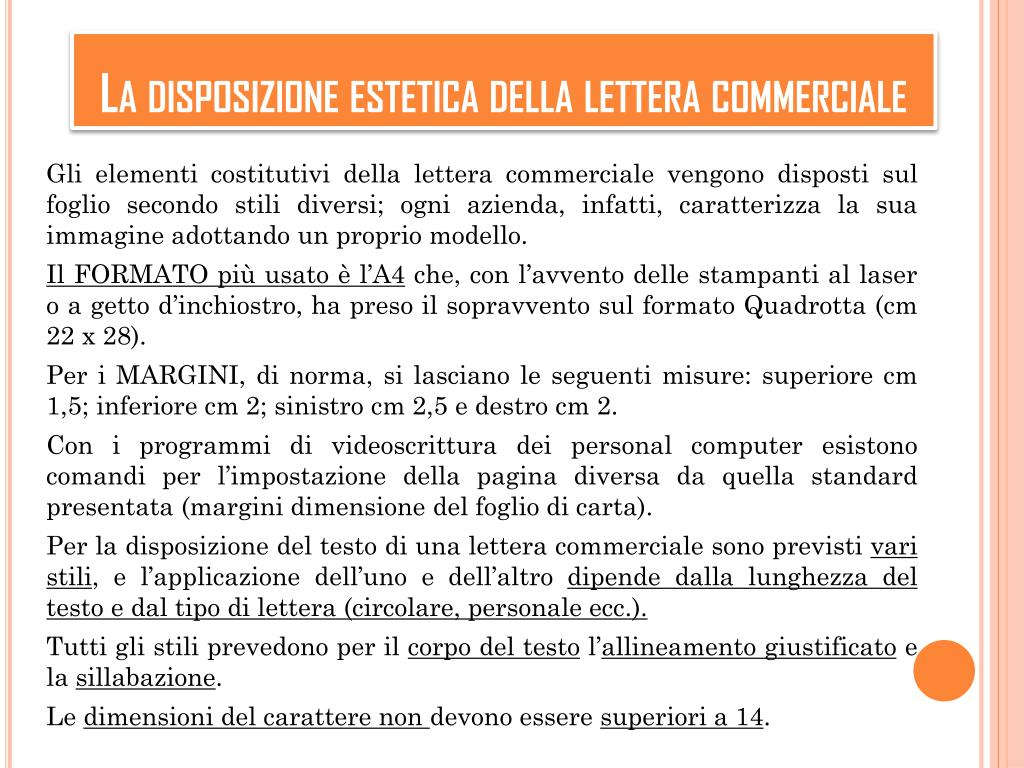 Ppt La Lettera Commerciale Powerpoint Presentation Free Download Id 5816481