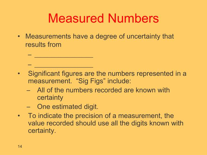 PPT - INTRODUCTION IV Significant Figures PowerPoint Presentation