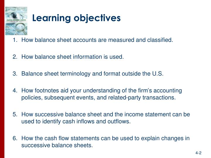 PPT - Structure of the Balance Sheet and Statement of Cash Flows - Balance Sheet Classified Format