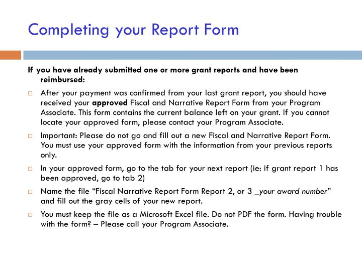 PPT - How to submit your grant report PowerPoint Presentation - ID