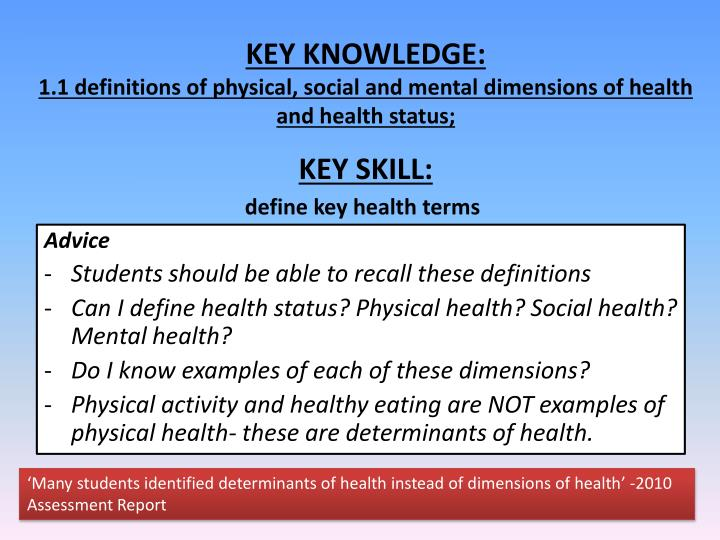 PPT - Advice Students should be able to recall these definitions