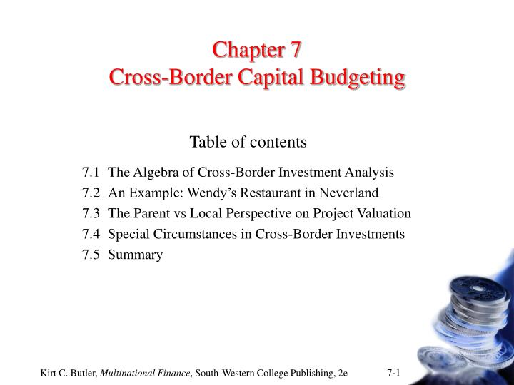PPT - Chapter 7 Cross-Border Capital Budgeting PowerPoint