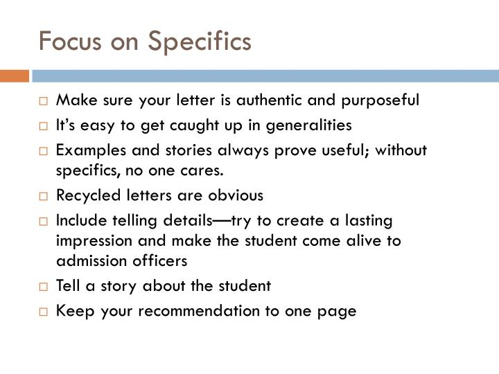 PPT - Tips for Writing Letters of Recommendation PowerPoint