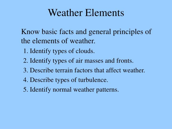 PPT - Weather Elements PowerPoint Presentation - ID6104038