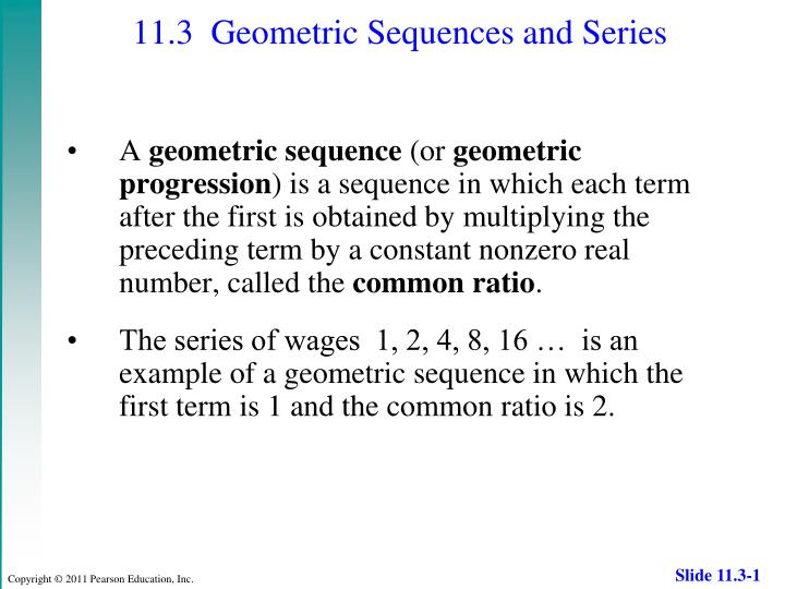 PPT - 113 Geometric Sequences and Series PowerPoint Presentation
