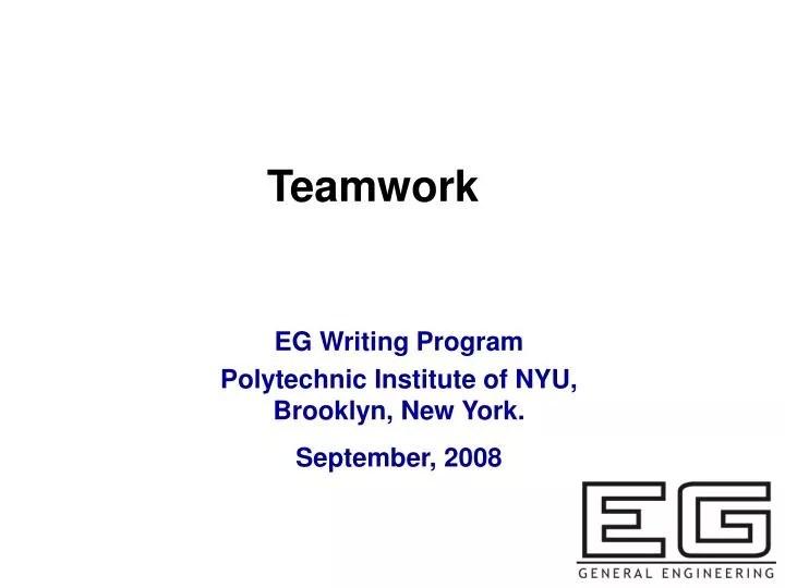 PPT - Teamwork PowerPoint Presentation - ID6137995