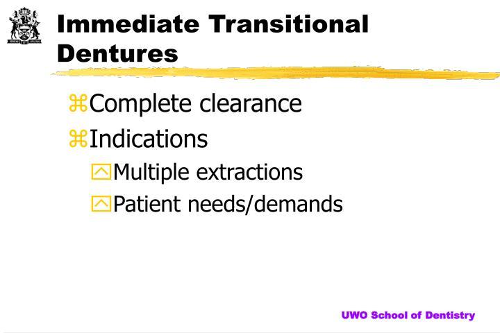 PPT - Immediate Dentures PowerPoint Presentation - ID6225005