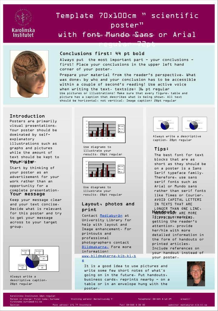 PPT - Template 70x100cm \u201d scientific poster\u201d with font Mundo Sans or - powerpoint poster templates for research poster