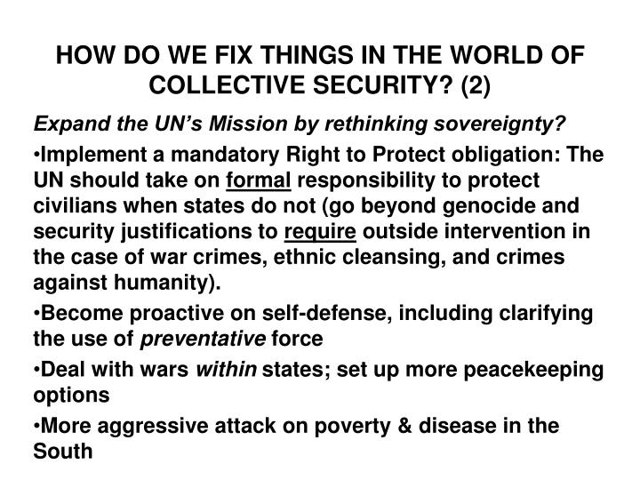 PPT - COLLECTIVE SECURITY PowerPoint Presentation - ID6319941