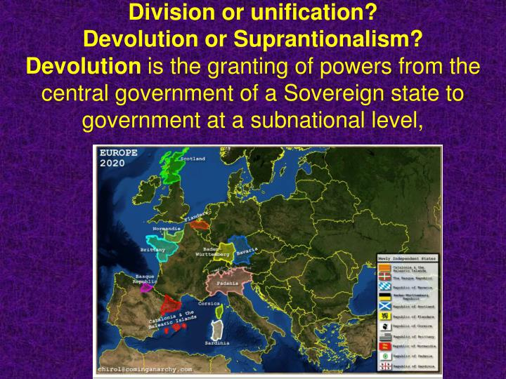PPT - Supranationalism government beyond or above the state