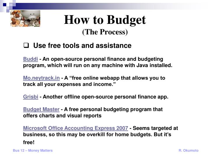 PPT - Budgeting September 13, 2010 PowerPoint Presentation - ID6381218 - free home budget program