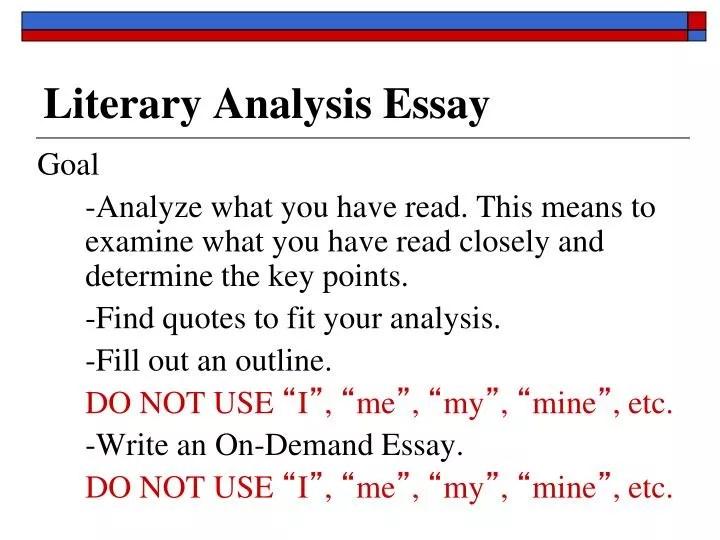 PPT - Literary Analysis Essay PowerPoint Presentation - ID6399751