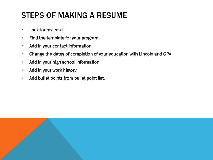 PPT - LCNe Career Service webinar Creating a Resume PowerPoint