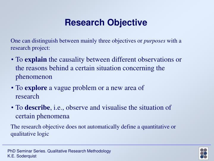 PPT - PhD Seminar Series Qualitative Research Methodology PowerPoint