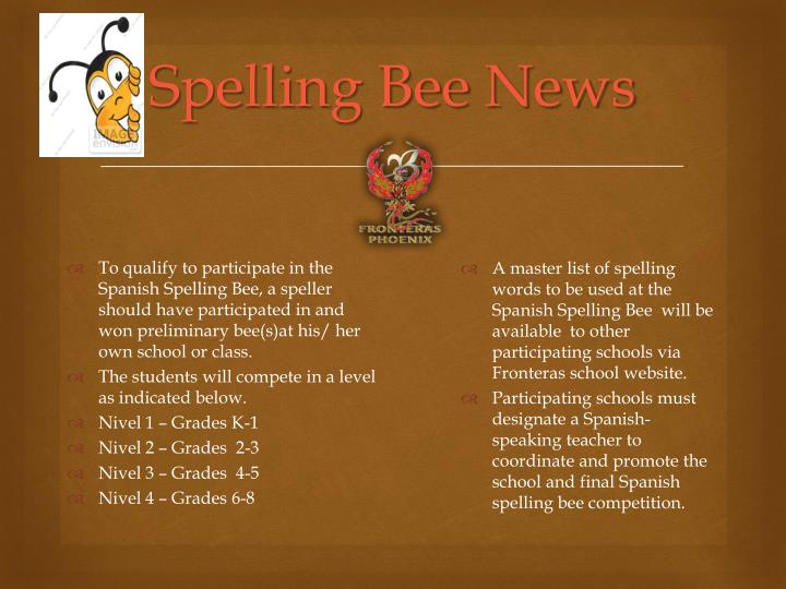 PPT - Spanish Spelling Bee PowerPoint Presentation - ID6611588 - spanish speller