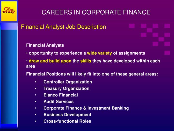 PPT - CAREERS in Corporate Finance PowerPoint Presentation - ID6627327