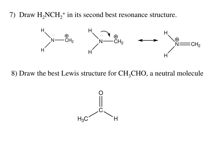 PPT - Draw the resonance structure indicated by the arrows