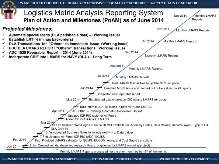 PPT - Logistics Metric Analysis Reporting System Plan of Action and