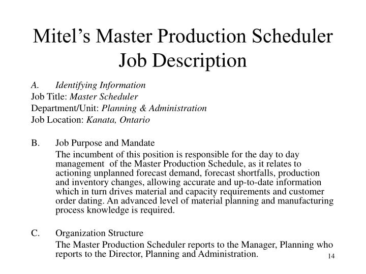 Project Scheduler Job Description Using Mind Mapping To Take Notes .