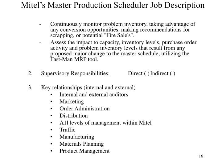 Master Scheduler 9 Cover Letter For A Master Rn Cover Letter Doc728942  Production Scheduler Job Description