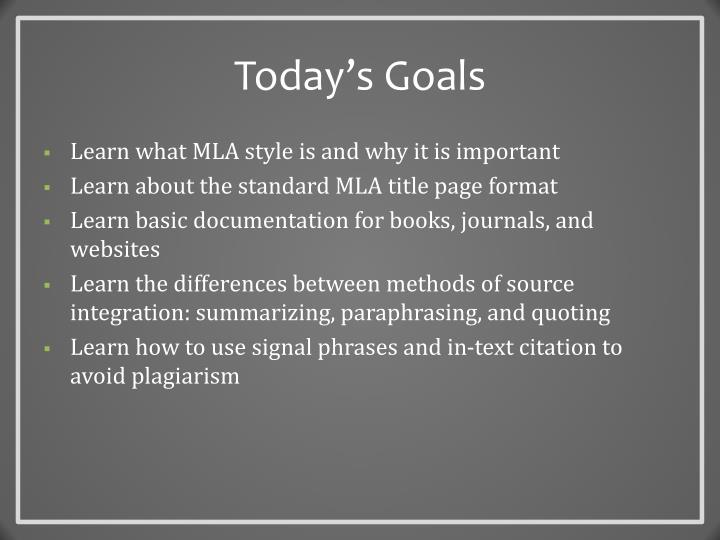 PPT - MLA Style The Basics PowerPoint Presentation - ID6693472