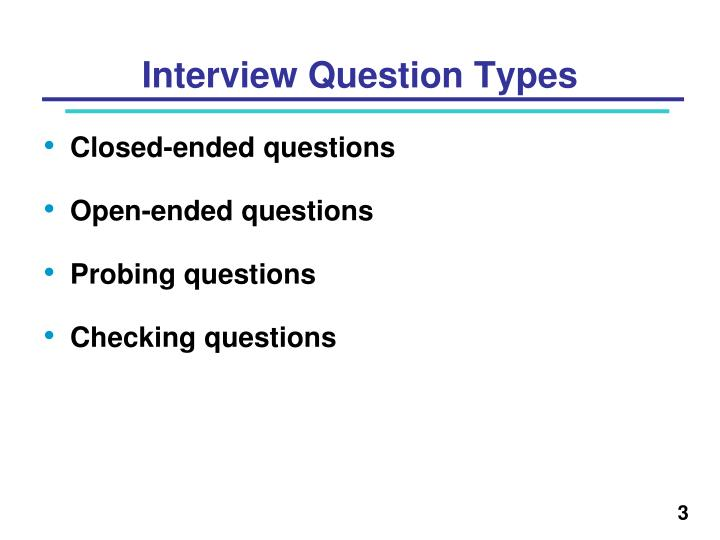PPT - Interview Question Types PowerPoint Presentation - ID6718977