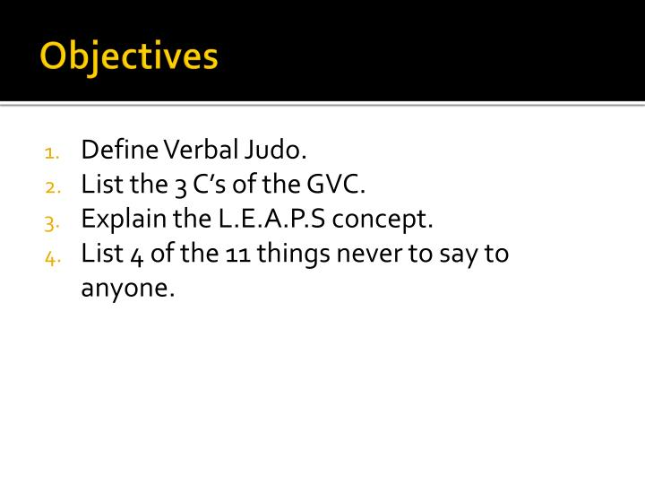 PPT - Verbal Judo and Tactical Communication PowerPoint Presentation
