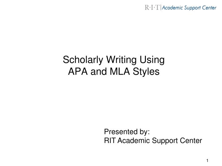 Why use apa style for writing papers