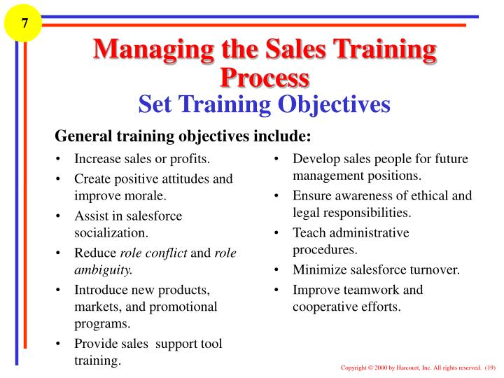 PPT - Module 7 Continual Development of the Salesforce Sales - how to develop a sales training plan
