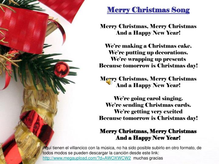 PPT - Merry Christmas Song Merry Christmas, Merry Christmas And a