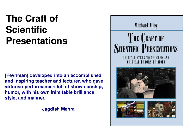 PPT - The Craft of Scientific Presentations PowerPoint Presentation