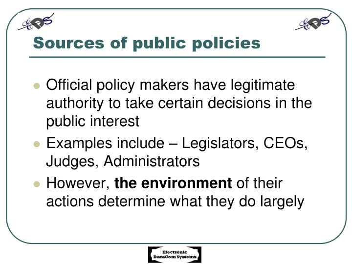 PPT - Public policy making PowerPoint Presentation - ID7105202
