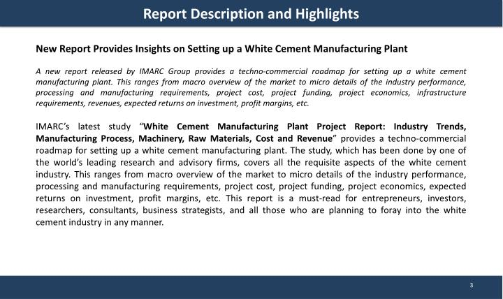 PPT - White Cement Manufacturing Plant Project Report PowerPoint