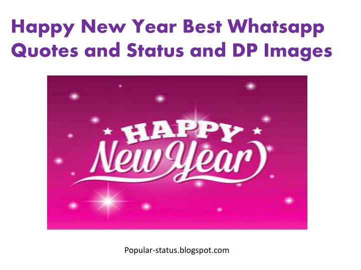 PPT - Happy New Year 2016 DP Images and Wishes PowerPoint