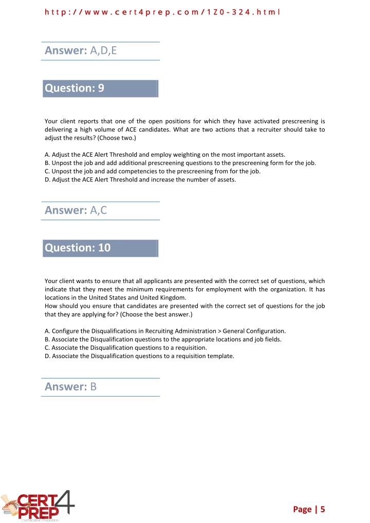 PPT - 1Z0-324 Oracle Exam - Certification Test PDF Questions