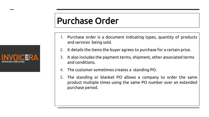 PPT - Difference Between A Purchase Order And An Invoice PowerPoint