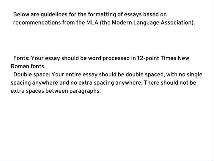 PPT - Proper essay format PowerPoint Presentation - ID7359328
