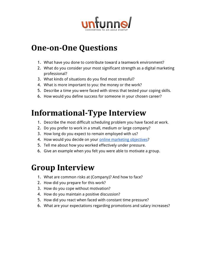 PPT - 30 Most Common Digital Marketing Interview Questions - marketing interview questions