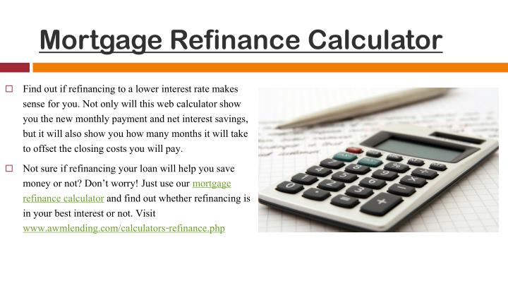 Loan Mortgage Loan Mortgage Refinance Calculator