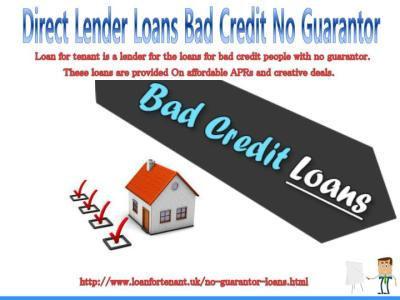 PPT - Get Guaranteed Offers on No Guarantor Loans For Bad ...