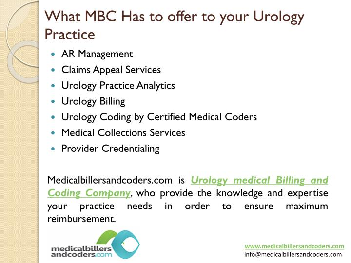 urology billing and coding