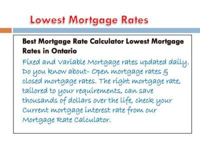 PPT - Today's best mortgage rates Check our current mortgage interest rates PowerPoint ...
